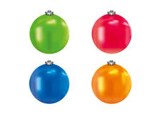 Color bauble. Vector 3d color holiday bauble Royalty Free Stock Photos