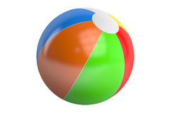 Color beach ball, 3D rendering. On white background Stock Photos