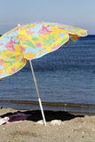 Color beach umbrella Stock Photo