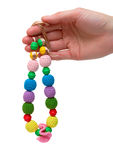 Color bead necklace Royalty Free Stock Photos