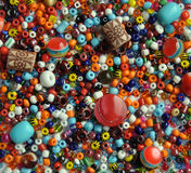 Color beads for needlework. Colour beads for ornaments for needlework Royalty Free Stock Image
