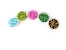 Color beads for women's handicrafts Stock Photography