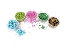 Color beads for women's handicrafts Royalty Free Stock Image
