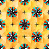 Color beautiful abstract seamless pattern maritime symbols Royalty Free Stock Photo