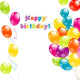 Color beautiful party balloons Royalty Free Stock Photos