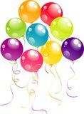 Color beautiful party balloons, vector Stock Photos