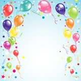 Color beautiful party balloons, vector Royalty Free Stock Photography
