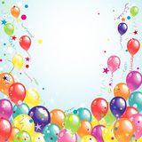 Color beautiful party balloons, vector Royalty Free Stock Photos