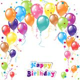 Color beautiful party balloons, vector Royalty Free Stock Image