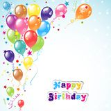 Color beautiful party balloons, vector Royalty Free Stock Photo