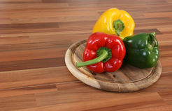 Color bellpeppers Stock Photography