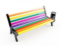 Color bench on white Stock Images