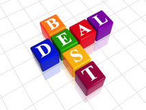 Color best deal like crossword Royalty Free Stock Photo