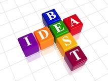 Color best idea like crossword Stock Photos