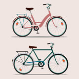 Color bikes Royalty Free Stock Images