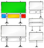 Color billboards. View of color blank highway billboards for advertising, construction,  illustration Royalty Free Stock Photo