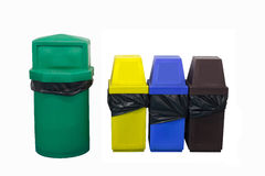 Color Bin on white background Royalty Free Stock Image
