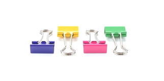Color binder clips. Illustration on white background for design Stock Photo