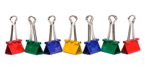 Color binder clips Stock Photo