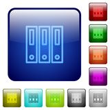 Color binders glass buttons. Set of color binders glass web buttons Royalty Free Stock Photography