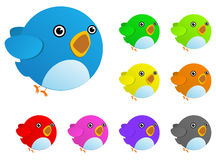 Color bird. Isolated on white Stock Images