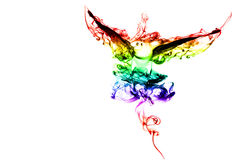 Color Bird. Bird with colors smoke texture on a white background Royalty Free Illustration