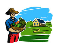 Color black farmer Royalty Free Stock Photography