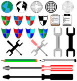Color and black icons Stock Photo