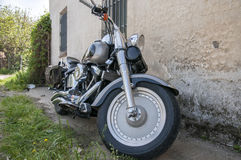 Color black motorcycle Royalty Free Stock Photography