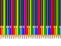 Color and black pencils as piano keys Royalty Free Stock Photography
