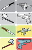Color, Black and White Weapon Illustrations Royalty Free Stock Image