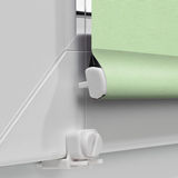 Color blackout roller blind on the bottom of the window Stock Image