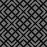 Color blanco y negro del modelo geométrico Imagenes de archivo