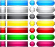 Color blank buttons. vector illustration