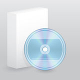 Color blank disc with blank box Royalty Free Stock Photography