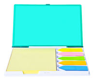 Color blank sticky notes in box Royalty Free Stock Photo