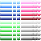 Color blank web buttons Stock Photography