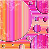 Color blast retro disco background Stock Images