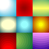 Color blend backgrounds set Royalty Free Stock Image