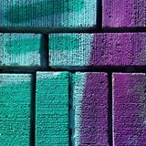 Color blend on brick wall Stock Image