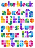 Color Block Abstract Alphabet/eps Royalty Free Stock Image