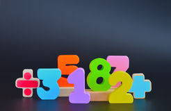 Color block numbers Stock Images