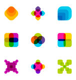 Color block patterns. A background design set of color blocks overlapping each other Stock Photography