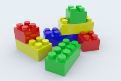 Color blocks. Toy Royalty Free Stock Photos