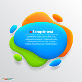 Color blot banner. Vector Royalty Free Stock Photography