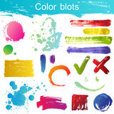 Color blots Stock Photography