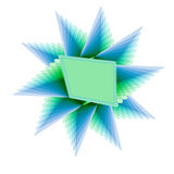Color Blue and Green Blank Object Royalty Free Stock Photo