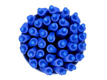 Color blue pen Royalty Free Stock Images