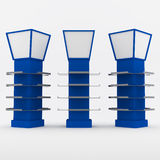 Color blue shelves design Royalty Free Stock Photos