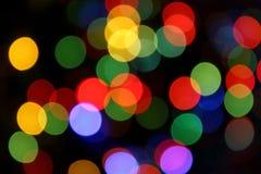 Blurred color lights Stock Images